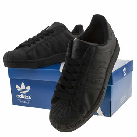 Adidas Superstar Womens All Black