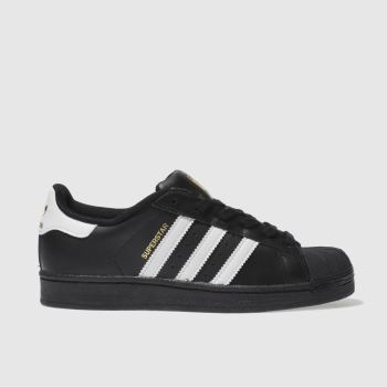Womens Adidas Black & White Adi Superstar 2 Trainers