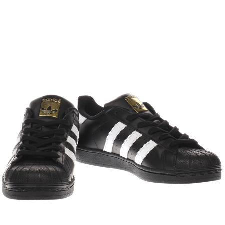 omdah Womens Black & White Adidas Superstar 2 Trainers | schuh
