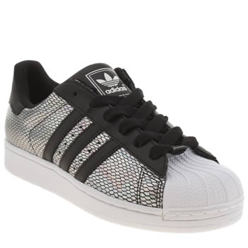 Adidas Silver & Black Superstar 2 Foil Trainers