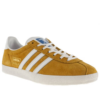 womens adidas orange gazelle og iii trainers
