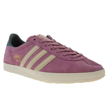 womens adidas purple gazelle og iii trainers