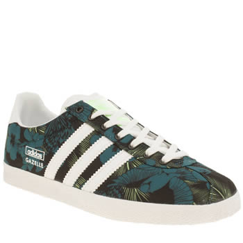 Womens Adidas Black and blue Gazelle Og Trainers