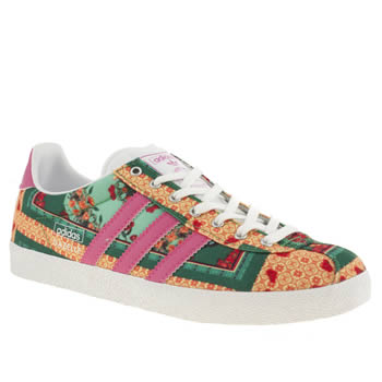 Womens Adidas Green Gazelle Og Iii Farm Brazil Trainers