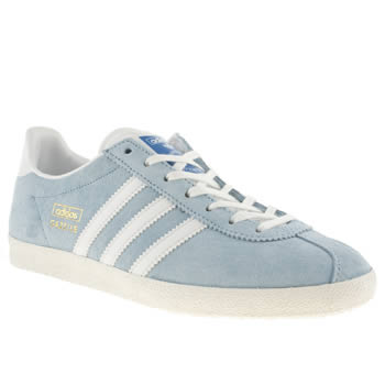 womens adidas pale blue gazelle og iii trainers