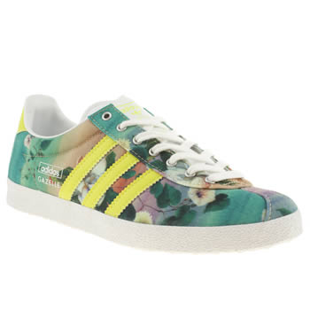 womens adidas multi gazelle og iii farm brazil trainers