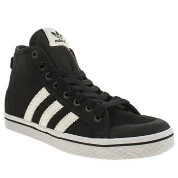 Womens Adidas Black & White Honey Mid Trainers