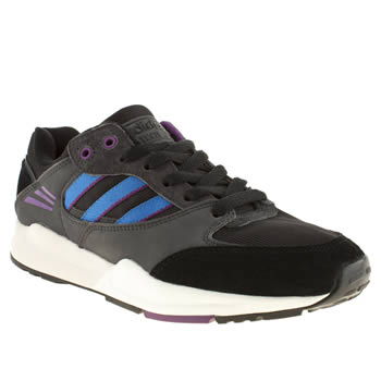 womens adidas black and blue tech super trainers