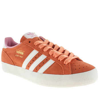 womens adidas orange basket profi lo ii trainers