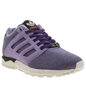 Adidas Lilac Zx Flux 2-0 Jersey Trainers