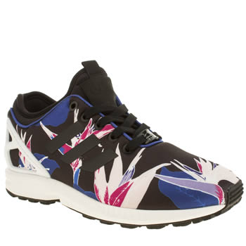 Womens Adidas Black and blue Zx Flux Neoprene Graphic Trainers