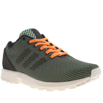 Adidas Navy & Green Zx Flux 8k Weave Trainers