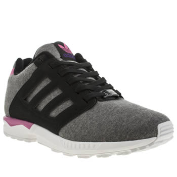 Adidas Black & pink Zx Flux 2-0 Jersey Trainers