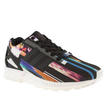 womens adidas multi zx flux 8k graphic trainers