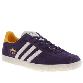 Womens Adidas Purple Gazelle Og Iv Trainers