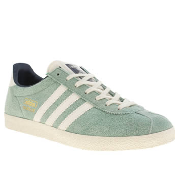 womens adidas pale blue gazelle og iv trainers