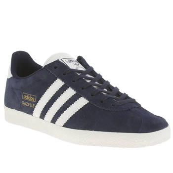Womens Adidas Navy & White Gazelle Og Suede Trainers