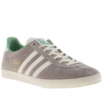 Womens Adidas Light Grey Gazelle Og Iv Trainers