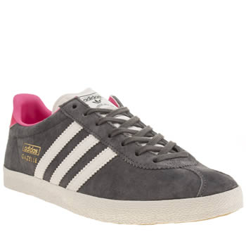 Adidas Dark Grey Gazelle Og Suede Trainers