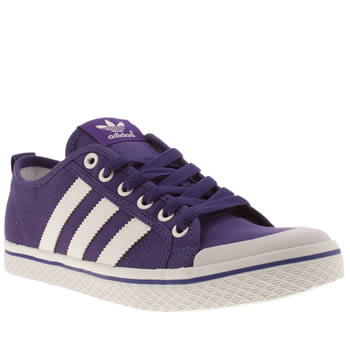 Womens Adidas Purple Honey Low Stripes Iv Trainers