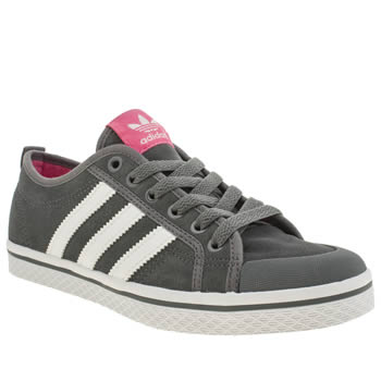 Womens Adidas Dark Grey Honey Low Stripes Trainers