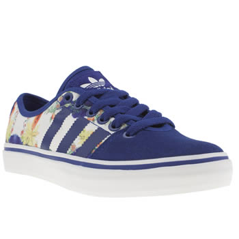 Womens Adidas White & Blue Adria Low Farm Print Trainers