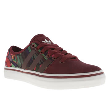 Womens Adidas Burgundy Adria Low Farm Print Trainers