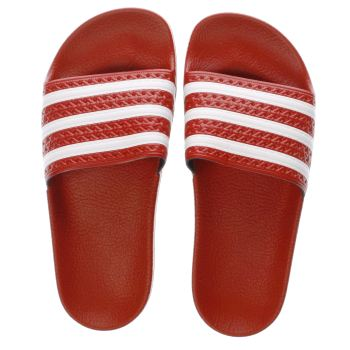 ADIDAS RED ADILETTE SANDALS