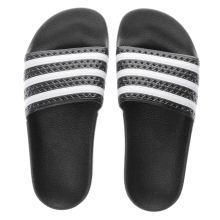 Adidas Black & White Adilette Womens Sandals