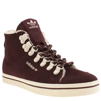 Womens Adidas Burgundy Honey Hook Trainers