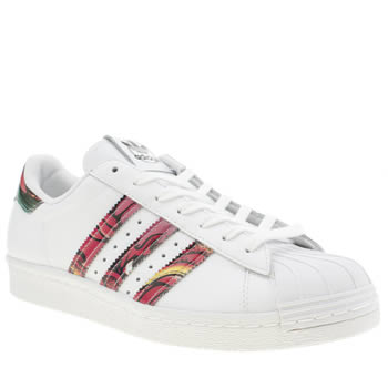Adidas White & Orange Superstar Rita Ora Dragon Trainers