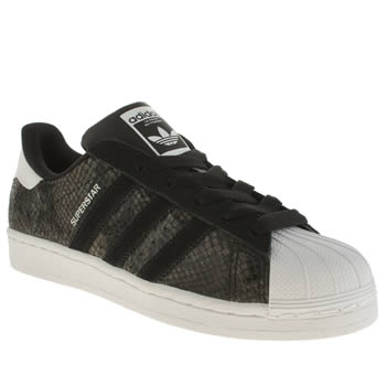 Adidas Black & White Superstar Snake Foil Trainers