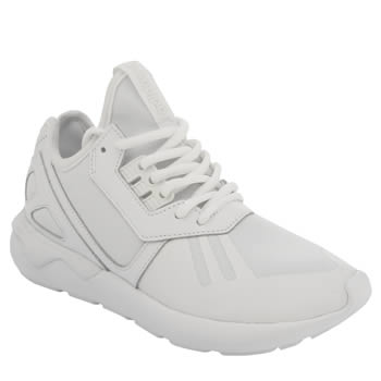 Womens Adidas White Tubular Runner Trainers