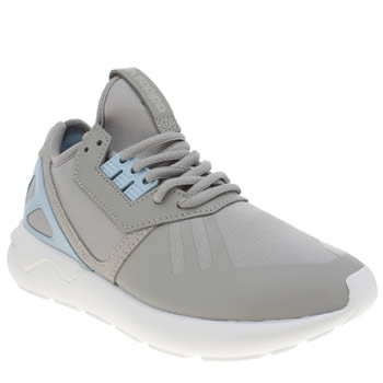 Adidas Light Grey Tubular Runner Trainers