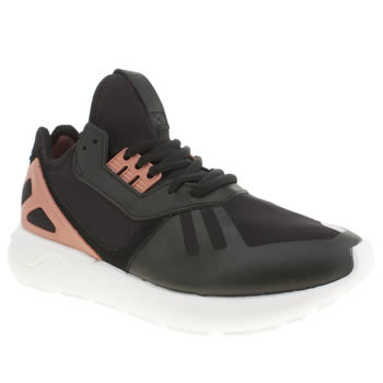 Adidas Black & pink Tubular Runner Trainers
