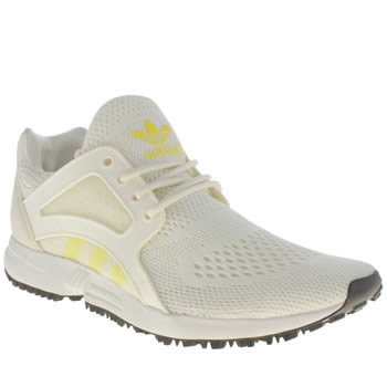 Adidas White & Yellow Racer Lite Trainers