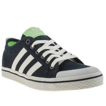 Adidas Navy & White Honey Low Stripes Trainers