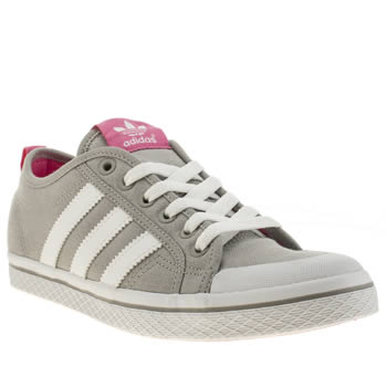 Adidas Light Grey Honey Low Stripes Trainers