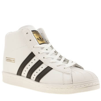 Womens Adidas White & Black Superstar Up Trainers
