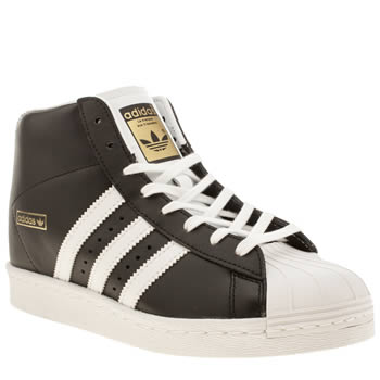 Adidas Black & White Superstar Up Trainers