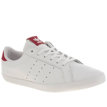 Womens Adidas White & Red Miss Stan Trainers