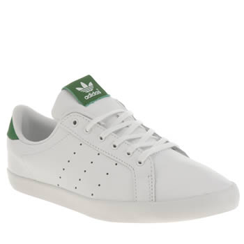 Adidas White & Green Miss Stan Trainers