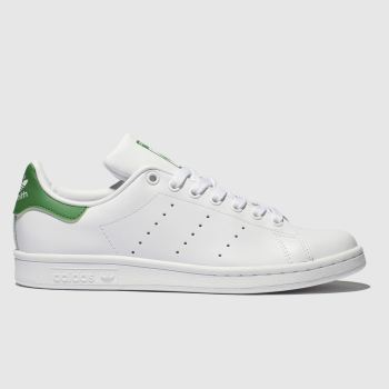 Adidas White & Green Stan Smith Womens Trainers