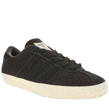 Adidas Black & White Gazelle 70s Woven Trainers