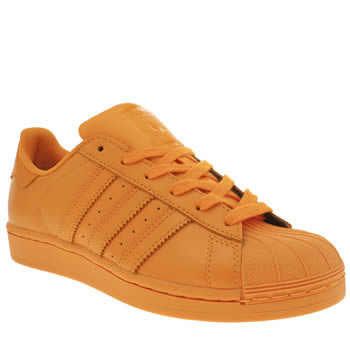 Womens Adidas Orange Superstar Supercolor Trainers