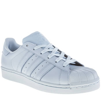 Womens Adidas Pale Blue Superstar Supercolor Trainers