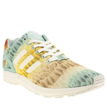 Adidas Light Green Zx Flux Trainers