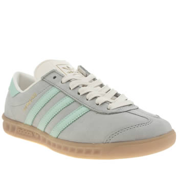 Womens Adidas Pale Blue Hamburg Trainers