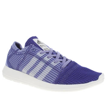 Womens Adidas Purple Element Refine Tricot Trainers