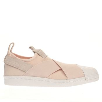 Adidas Pale Pink Superstar Slip On Trainers
